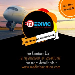 Upgraded Charter Air Ambulance Service in Dibrugarh by Medivic